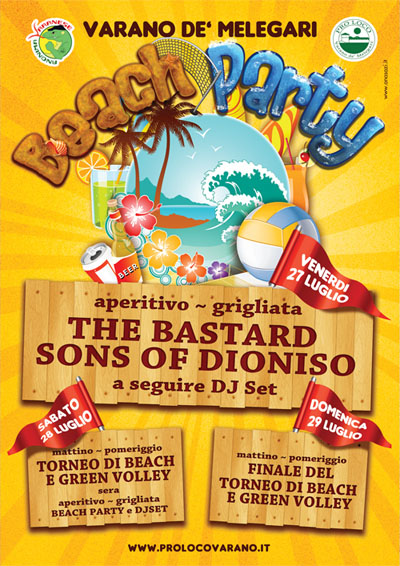BEACH PARTY + The Bastard Sons of Dioniso !